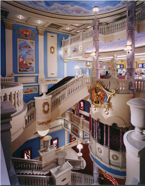 Muvico Theaters - The 4 story lobby of the Muvico Parisian 20 theater in West Palm Beach, FL.
