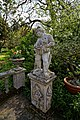 Myddelton House, Enfield, London ~ lake terrace pedestal statue 02.jpg