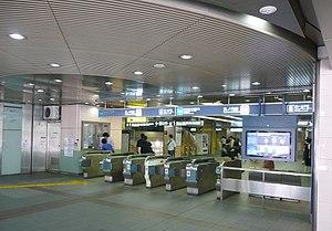 Myōgadani Station - Image: Myogadani sta Gate for Kasugadori