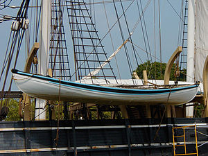 Whaleboat - Whaleboat aboard the whaling ship Charles W. Morgan at Mystic Seaport