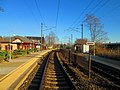Mystic station from grade crossing, November 2013.jpg