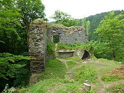 Zříceniny hradu