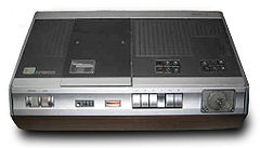 An N1500 Video Recorder With Wooden Cabinet