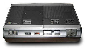 Video cassette recording wikipedia an n1500 video recorder with wooden cabinet publicscrutiny Choice Image