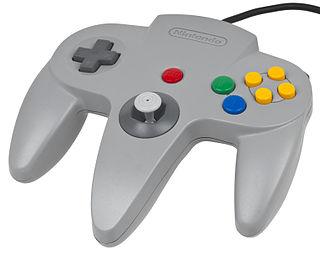 Nintendo 64 controller Primary game controller for the Nintendo 64