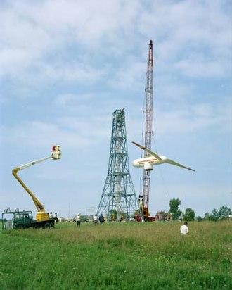Wind power in Ohio - Image: NASA MOD 0 construction 1975 03133L