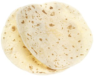 Wheat tortilla - Image: NCI flour tortillas