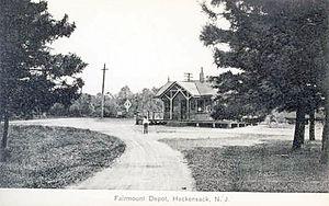 New Jersey and New York Railroad - Image: NJ&NY Fairmount Hackensack 1911Postcard