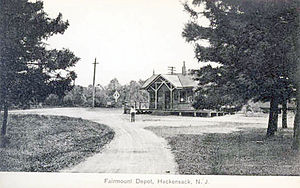 Fairmount Avenue station - The former Fairmount Avenue station in 1911