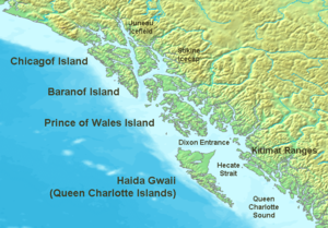 Map of the coast of the Pacific Northwest --- ...