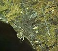 Nagahama city center area Aerial photograph.1982.jpg