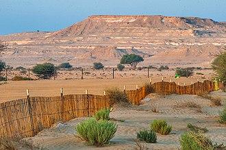 Al Rayyan - Fenced-off area of Jebel Nakhsh in southern Qatar.