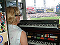 Nancy Faust in Cellular Field organ booth 2010-09-27 1.jpg