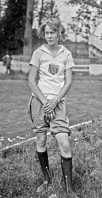Nancy Voorhees - Voorhees at the 1922 Women's World Games