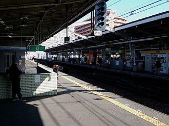 Shin-Imamiya Station - Image: Nankai Shin Imamiya Station Platform 02