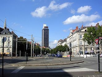 Tour Bretagne - The tower and the Cours des 50-Otages