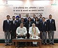 Narendra Modi with the medal winners of the 17th Asian Games, Incheon 2014, in New Delhi. The Minister of State for Skill Development, Entrepreneurship, Youth Affairs and Sports (Independent Charge) (2).jpg