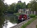 Narrowboat moored at public house - geograph.org.uk - 1870857.jpg