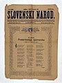 Naslovnica časopisa Slovenski narod - Ob odkritju Prešernovega spomenika.jpg