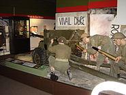 National Army Museum WWII anti-tank gun display