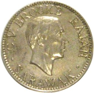 Sarawak dollar - A 10 cent coin minted in 1920 bearing the portrait of Charles Vyner Brooke.