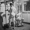Naval Ratings Aid Research- Testing the Effects of Temperature on Efficiency at the National Hospital of Nervous Diseases, Queen Square, London, England, UK, 1945 D24967.jpg