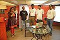 Neelanjana Dey with Wikimedia Kolkata Team - Valedictory Session - Wikilearnopedia - Oxford Bookstore - Kolkata 2015-08-23 3797.JPG