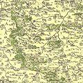 Nejstarší vyobrazení Plzeňského kraje na Aretinově mapě 1619.jpg