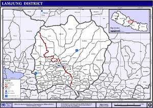 Karaputar - Image: Nepal Lamjung Districtmap