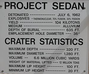 Sedan (nuclear test) - Image: Nevada Test Site Sedan Crater 4