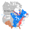 North America in 1750.