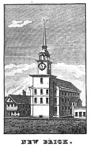 Second Church, Boston - Image: New Brick Church Bowen Picture Of Boston 1838