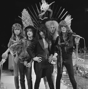 Glam rock - New York Dolls, c. 1973.