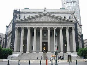 Judiciary of New York (state) - The New York County Courthouse in Manhattan