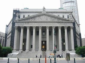 Government of New York (state) - The New York County Courthouse in Manhattan