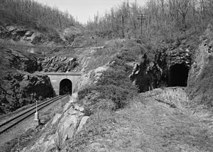 Blue Ridge Tunnel - Image: New and Old Blue Ridge Tunnels