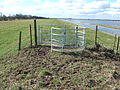 New stile on The Nene Way, Guyhirn Wash - geograph.org.uk - 1737821.jpg
