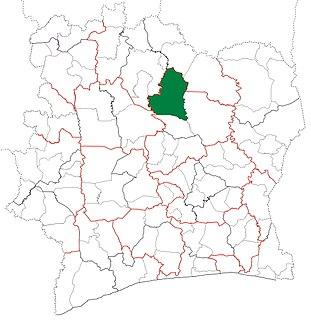Niakaramandougou Department Department in Vallée du Bandama, Ivory Coast