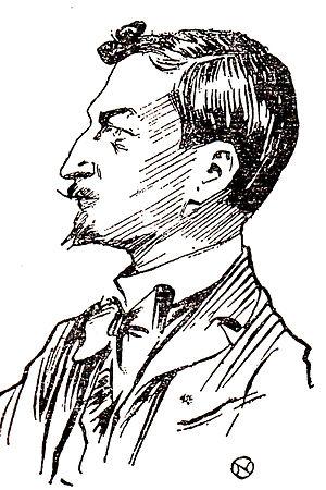 Ștefan Petică - Petică, as sketched by Nicolae Petrescu-Găină