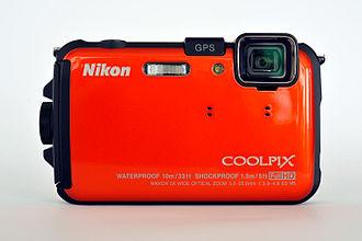 Nikon Coolpix series - Image: Nikon Coolpix AW100 Frontansicht 01 11