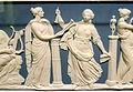 Nine Muses, attributed to John Flaxman, Jr., detail 2 - Wedgwood & Bentley, 1778-1780 - Brooklyn Museum - DSC08972.JPG