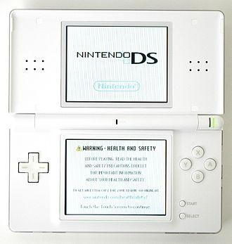 Nintendo DS Lite - Image: Nintendo DS Lite (top open on)