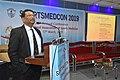 Nisith Ranjan Chowdhury Delivering Lecture - Quality Medical care - SPORTSMEDCON 2019 - SSKM Hospital - Kolkata 2019-03-17 3449.JPG