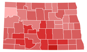 United States Senate election in North Dakota, 1956 - Image: North Dakota Senate Election Results by County, 1956