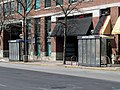 North side bus stop at Newton Corner, March 2013.JPG