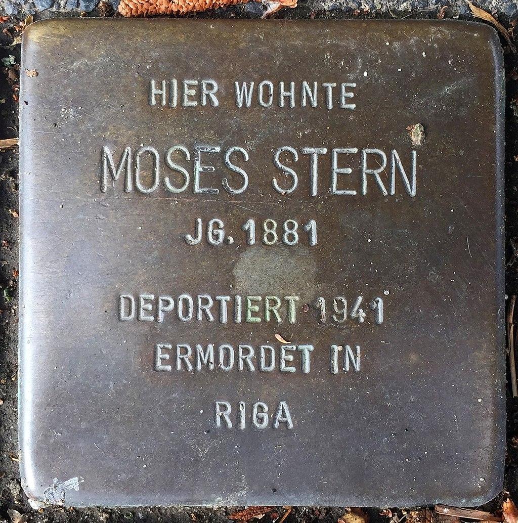 Northeim Stolperstein Moses Stern.jpg