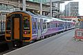 Northern Rail Class 158, 158853, platform 2, Manchester Victoria railway station (geograph 4500539).jpg