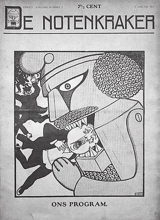 De Notenkraker - Image: Notenkraker eerste nummer eerste jaargang, 5 januari 1907 Albert Hahn