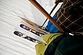 Ny og gammel ski i skiheis.jpg