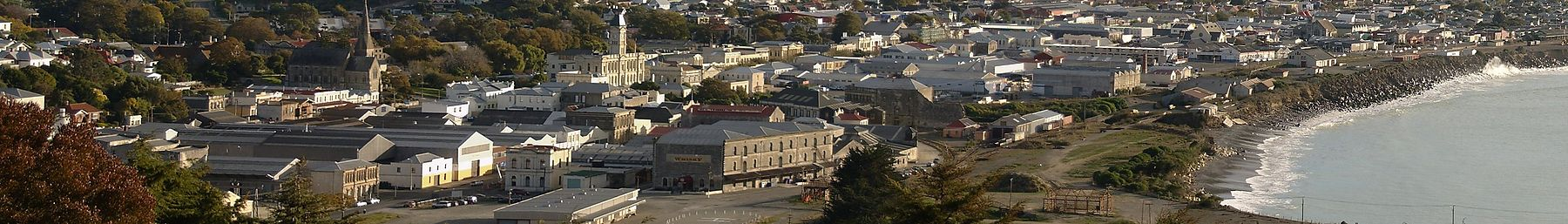 Early morning panorama of Oamaru